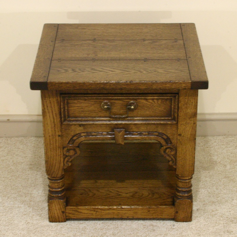 Old English Carved Lamp Table
